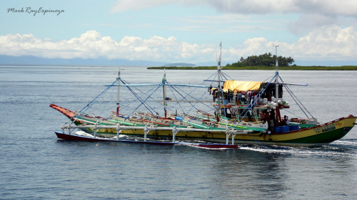 a fishing boat we came across on our way to Siargao Island, Philippines