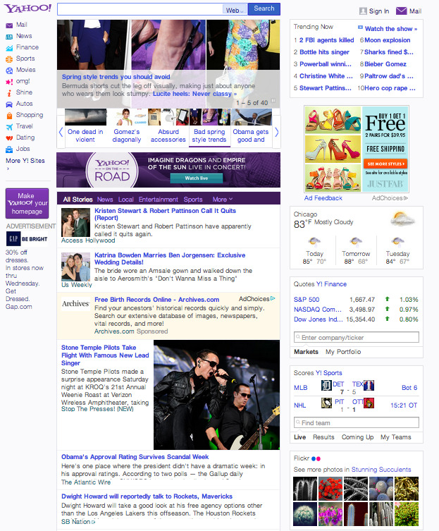 Yahoo! News is the only news site on the web not featuring anything about Yahoo's acquisition of Tumblr.  Editorial Independence?