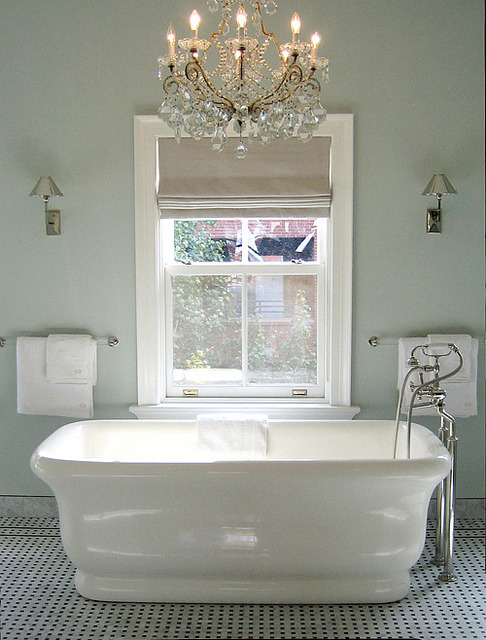 | ♕ |  sage bath - perry tub flat  | via coco+kelley