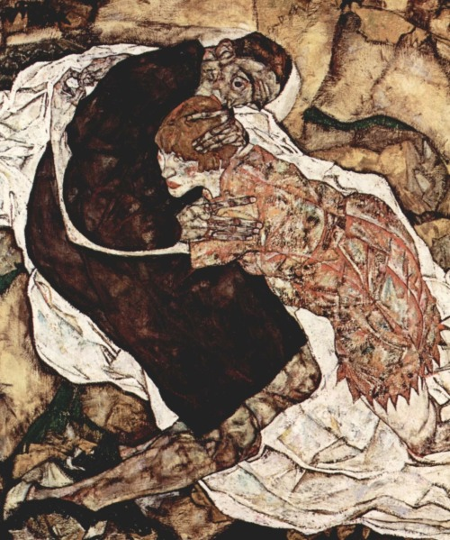 arpeggia:  Egon Schiele - Death and the Maiden, 1915 (detail) | More posts