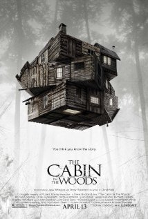 Cabin In The Woods (2012) 10-31-12 review   Five teens, your very stereotypical horror movie teens venture out on a weekend trip to, guess where!? A cabin in the woods.   Little do they know they're not the only ones hanging out in the woods. A film like this can't be explained without you watching it. It gives too much away, and we can't be doing all of that.   This film is fun, funny, gory as all bloody hell, and a perfect homage to the horror genre. Don't expect the scariest movie of all time, it's not trying to be that. What it is, though, is fresh, bloody, exciting, and thrilling. I found myself rooting for the good guys as much as the bad guys, and didn't see a lot of things coming.   The acting was on point, a very nice cast, not trying to hard but very effective. If you're looking for a mastermind of a plot, this isn't for you. The closest I can give you without spoiling it for you is by telling you to picture Evil Dead, with a little more blood and gore.   I loved this film. It was funny, I laughed through most of it, it had a few intense scenes, and the last 20-25 minutes are just insane.   Enjoy, and don't go into the cabin in the woods.   9/10 rotting corpses C. Vengeance