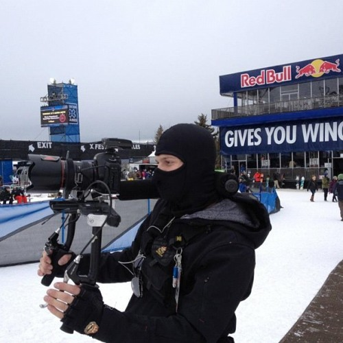 Catch Taylor Randall at @espn Winter #xgames with the #snapfocus by MidasMount.com @redbull #snowboarding #DSLR #filmmaker
