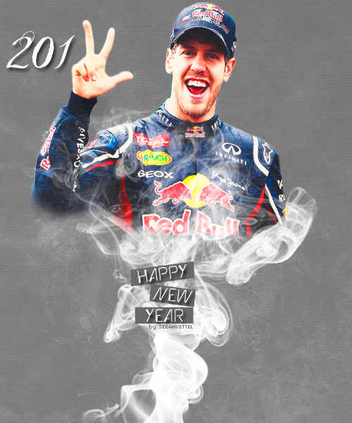 sebahvettel:  Happy 2013 to my lovely followers and all Seb fans!