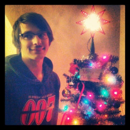 Got our tree up :) #Christmas #christmastree #gay #boyfriend @zombiefuhrer