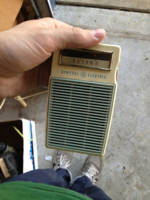 We found this radio that belonged to my great grandpa and it still works. I got to listen to the Cardinals game while I worked in the garage and if that's not Americana I don't know what is.