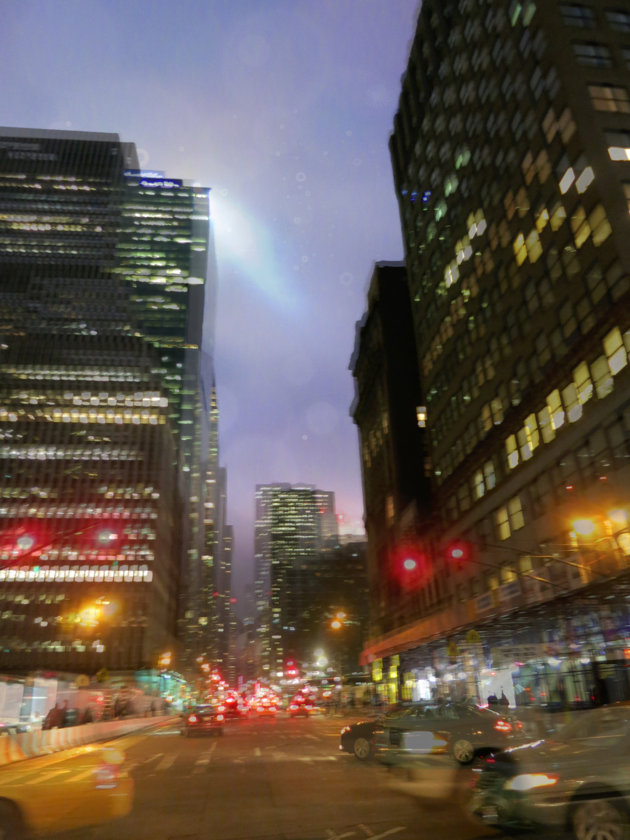 new york: a moment in the city of dreams - a tiny photoshop excursion taken and collated by me