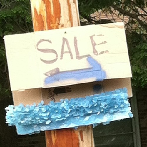 Best garage sale sign ever.