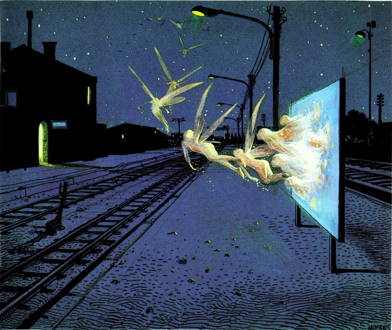 Jean Giraud aka Moebius aka Gir (b. France, 1938-2012) - Night Migration Moebius will always be one of the best.