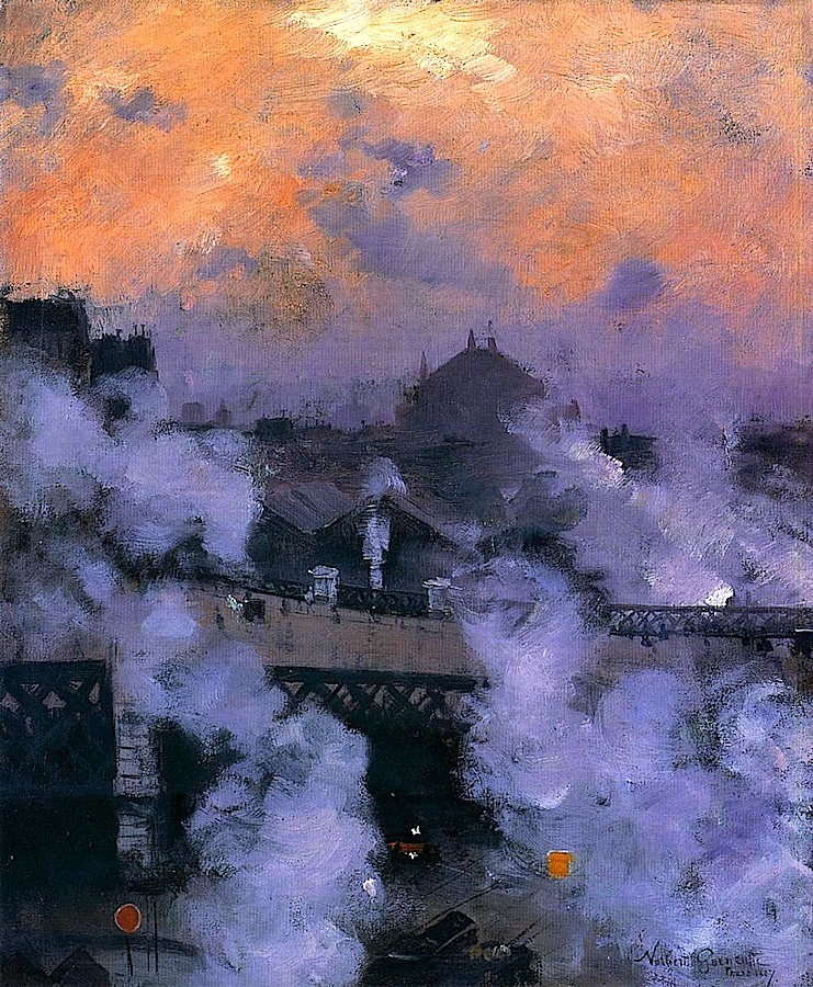 bofransson:  The Pont de l'Europe at Night Norbert Goeneutte - 1887
