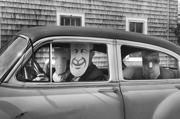 denisebefore:  USA. Untitled. (from the Mask Series with Saul Steinberg) morath/magnum 1962.