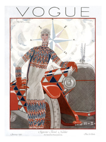 Vogue Cover of the Week: January 1, 1935 by Georges Lepape