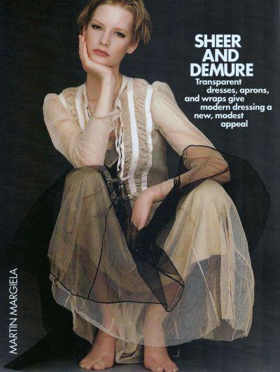Martin Margiela  Gilles Bensimon for US Elle, February 1991