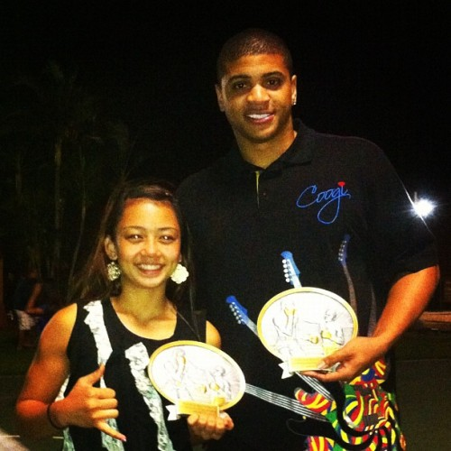 PearlSide Boxing Club's Outstanding Boxers of 2012, Tre (Open) and Allie (Junior).