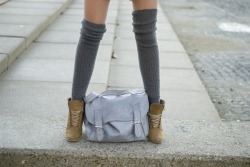(vía bag, fashion, girl, legs, shoes, socks - inspiring picture on Favim.com)