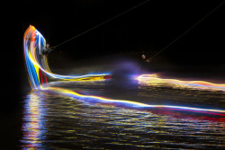 laughingsquid:  Beautiful Light Paintings Created by Wakeboarding
