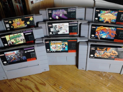 Some choice selections from my SNES collection.