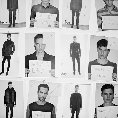 A handful of our men's looks for tonight's Fall '13 presentation.
