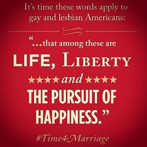 It's time. #equalloveequalrights #marriageequality #loveislouder #bridegroommovie #tombridegroom
