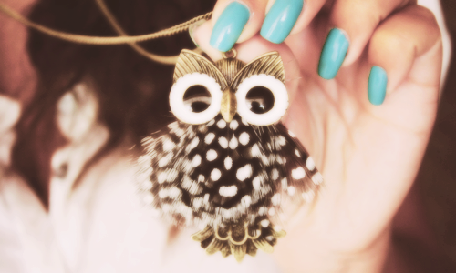 hey-its-k04:  owl obsessed<3  Cute necklace