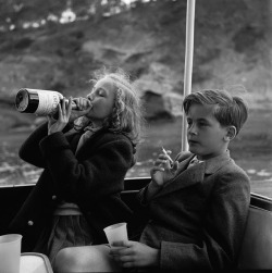 aluuure:   Princess Yvonne and Prince Alexander, 1955 by Marianne Sayn-Wittgenstein-Sayn.  fuck i love this