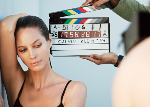 Beautiful preview shot from behind the scenes of Christy Turlington's new @CalvinKlein Underwear campaign for autumn/winter 2013/14