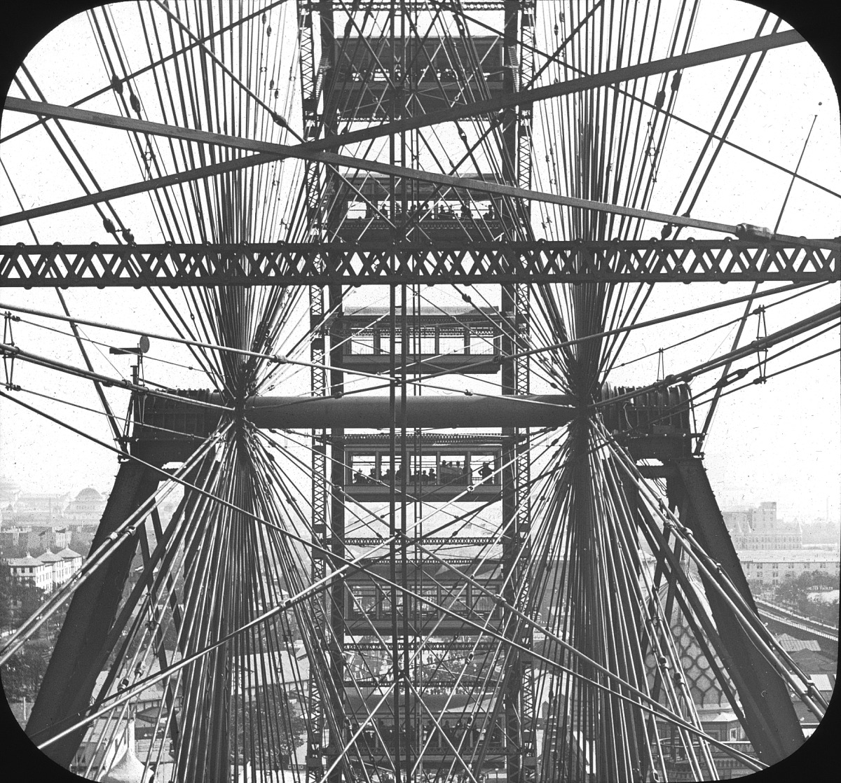 Through the Ferris Wheel: World's Columbian Exposition, Chicago, 1893. (by Brooklyn Museum)