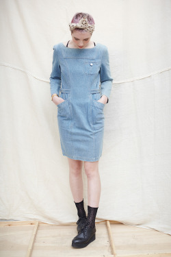 thewhitepepper:  THE WHITEPEPPER Vintage Denim Dress Follow us on Facebook