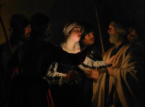 The Denial of St Peter by Gerard van Honthorst