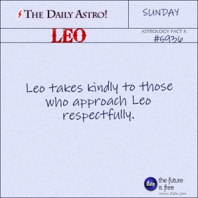Leo 5936: Visit The Daily Astro for more facts about Leo.You can get a free instant birth chart here.
