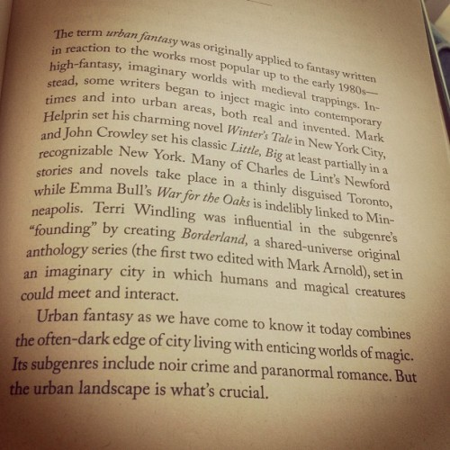 "Best description of ""urban fantasy"" I've seen yet. This is my favourite genre to read! #urbanfantasy #book #books #booklove #genre #fantasy #description #introduction"