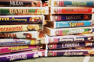 laurencegaudreault:  Old Disney Movies.  hahaha, VHS!  I need more Disney movies!