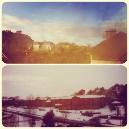 Can't believe the difference between Glasgow & Edinburgh today!