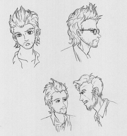 just some Henry and Abe sketches. The bottom sketches makes me wonder what Abe is giving Henry the business about.