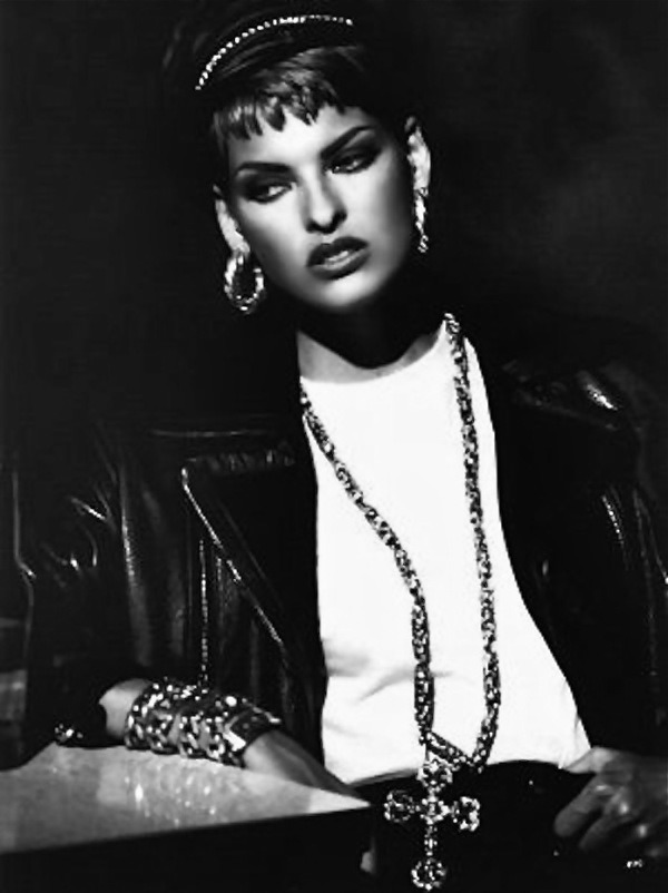 Vogue september 1991 Wild at Heart– Supermodel Linda Evangelista –Image by © Peter Lindbergh