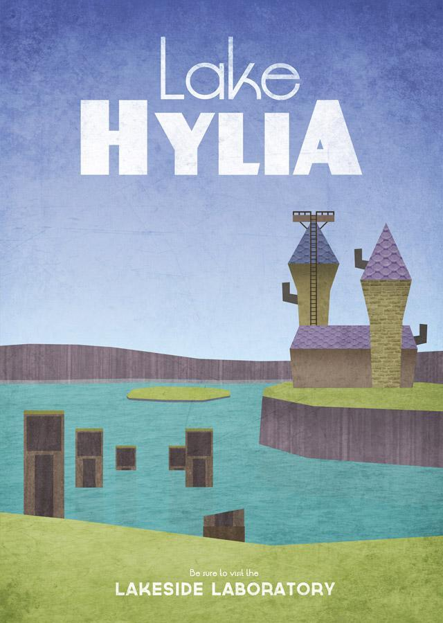 These Hyrulean Travel Posters take me back to my childhood days of playing Ocarina of Time!