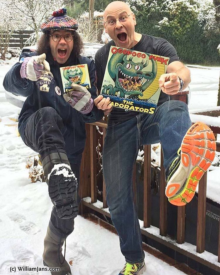 #Nardwuar delivers no matter the weather! Hot off the presses, the new #evaporators album with my photography on front, back and inside is done! ⠀Also, here is the VIDEO I made for the title track #Ogopogopunk (Including drone and underwater shots too)! https://www.youtube.com/watch?v=O-iM4qweIvM⠀⠀I bet you can buy one of these vinyl collectible beauties at #neptoon just down #mainstreet too! ⠀⠀⠀⠀⠀  (at Mt. Pleasant, Vancouver, British Columbia)