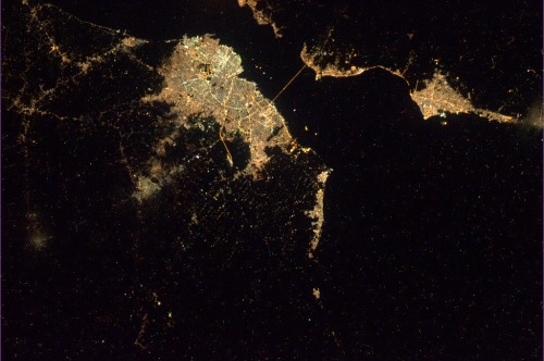 Maracaibo, Venezuela. The bridge to Cabimas clearly visible across the Lake. I lived here as an toddler.