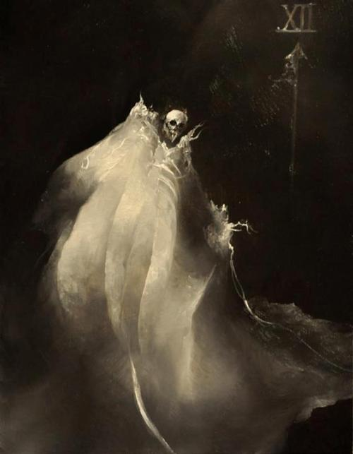 "blackpaint20:  Anne Bachelier illustration. From ""13 plus 1 by Edgar Allen Poe""An anthology of Poe's Short Stories and Poetry"
