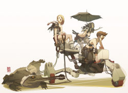 rude-mechanicals:  Desert Pirate Girls by *Brosa
