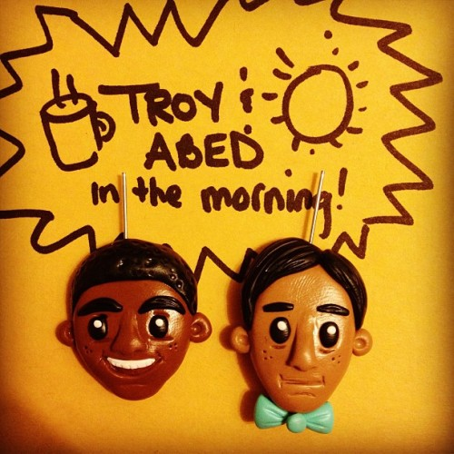 Cool. Cool, cool, cool. New besties necklace set prototype. #troyandabed #communitynbc #6seasonsandamovie