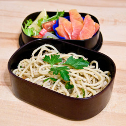 Sardine Pasta Bento by popartichoke on Flickr.
