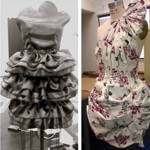 #tbt my fashion theory and practice class. I was playing with the idea of architecture and design #fashion #innovation #avant-garde #couture