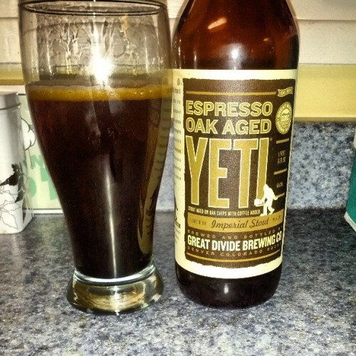 Number 2. @treezpreez finally shows up! #greatdividebrewingco #yeti #darkbeerisbestbeer #giveyourselftothedarksideoftheforce #craftbeer #originalbeersnob