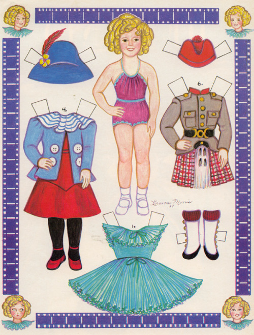 Shirley Temple Paper Dolls, by L. Morris.