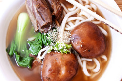 Chinese Lamb Noodle Soup (top-view) by nicknamemiket on Flickr.