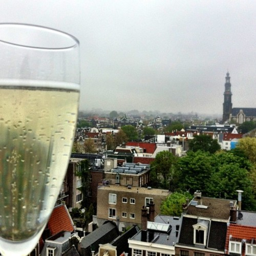 Cheers #Amsterdam! View from the Felix Mertis. #tburtm