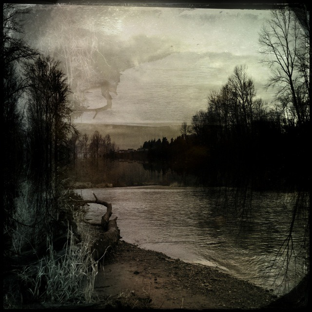 Green River on a Gray Afternoon #hipstamatic © 2013 Kent Kangley