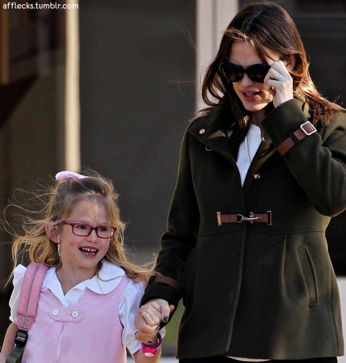 Jen takes Violet in school!