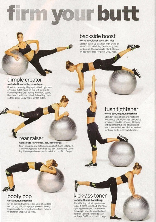 1healthyhappyfitnessblog:  I got the ball, so doing this on booty day ^^