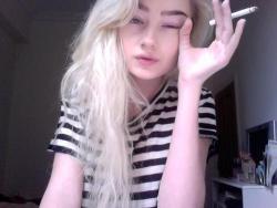 smoke brazil blond pale striped pale girl